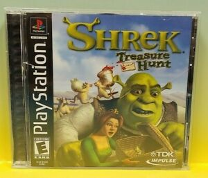 Shrek-Treasure-Hunt-Playstation-1-2-PS1-PS2-Game-Nice-Clean-Disc-Complete-1Owner
