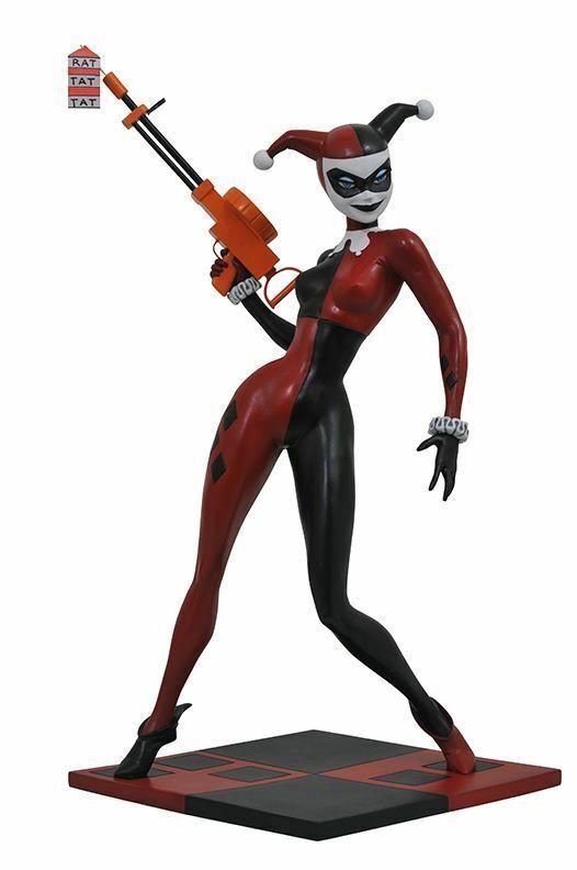 DC DIAMOND SELECT Batman Series Animadas Harley Quinn De Resina Estatua Joker