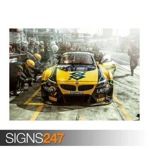 Car Poster Picture Poster Print Art A0 A1 A2 A3 A4 BMW TEAM BRASIL 0033