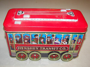 Hershey-Transit-Co-Collector-Tin-Trolley-Moveable-Wheels-7-034-x-4-034-x-3-034