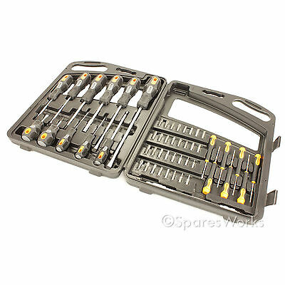 52 Piece Precision Screwdriver Drill Bit Set Hardened Steel Magnetic Tip Philips