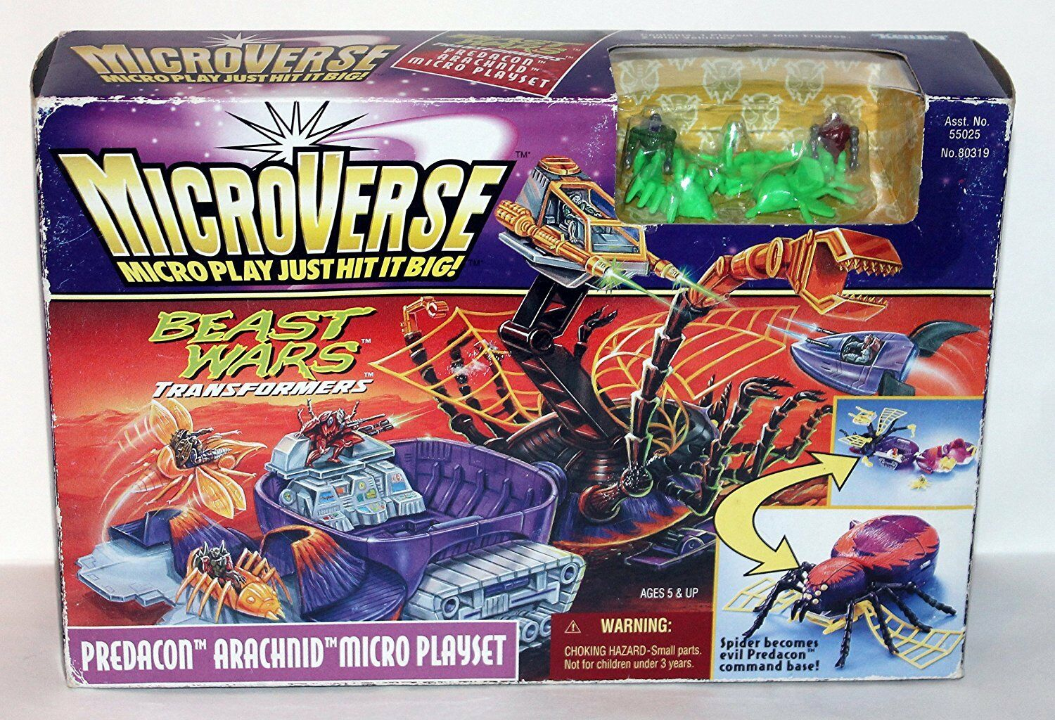 TRANSFORMERS BEAST WARS MICROVERSE Arachnid NEW ORCANOCH Kenner