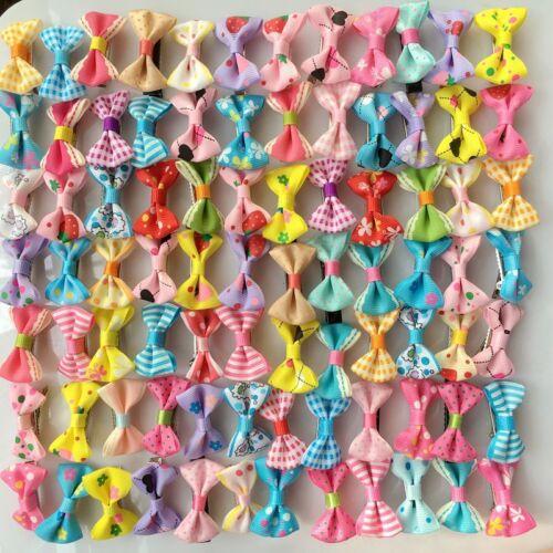 Handmade Kids Girls hair Accessories Baby mix Hair Clips Barrette bow hairpins