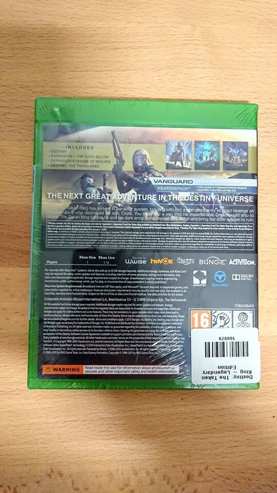 Destiny the taken king, Xbox One, anden genre