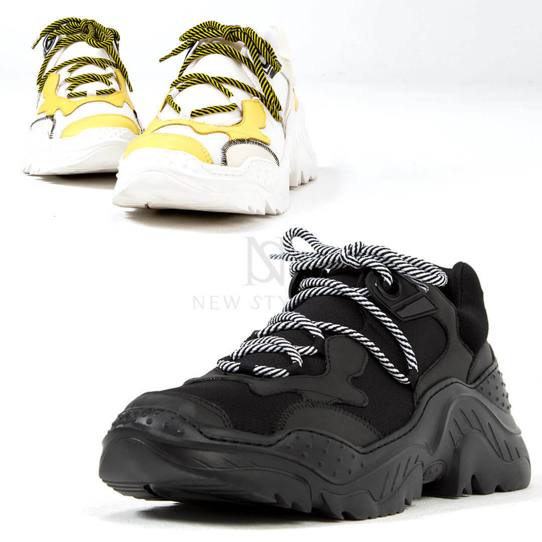 NewStylish Mens Fashion Contrast futuristic outsole sneakers