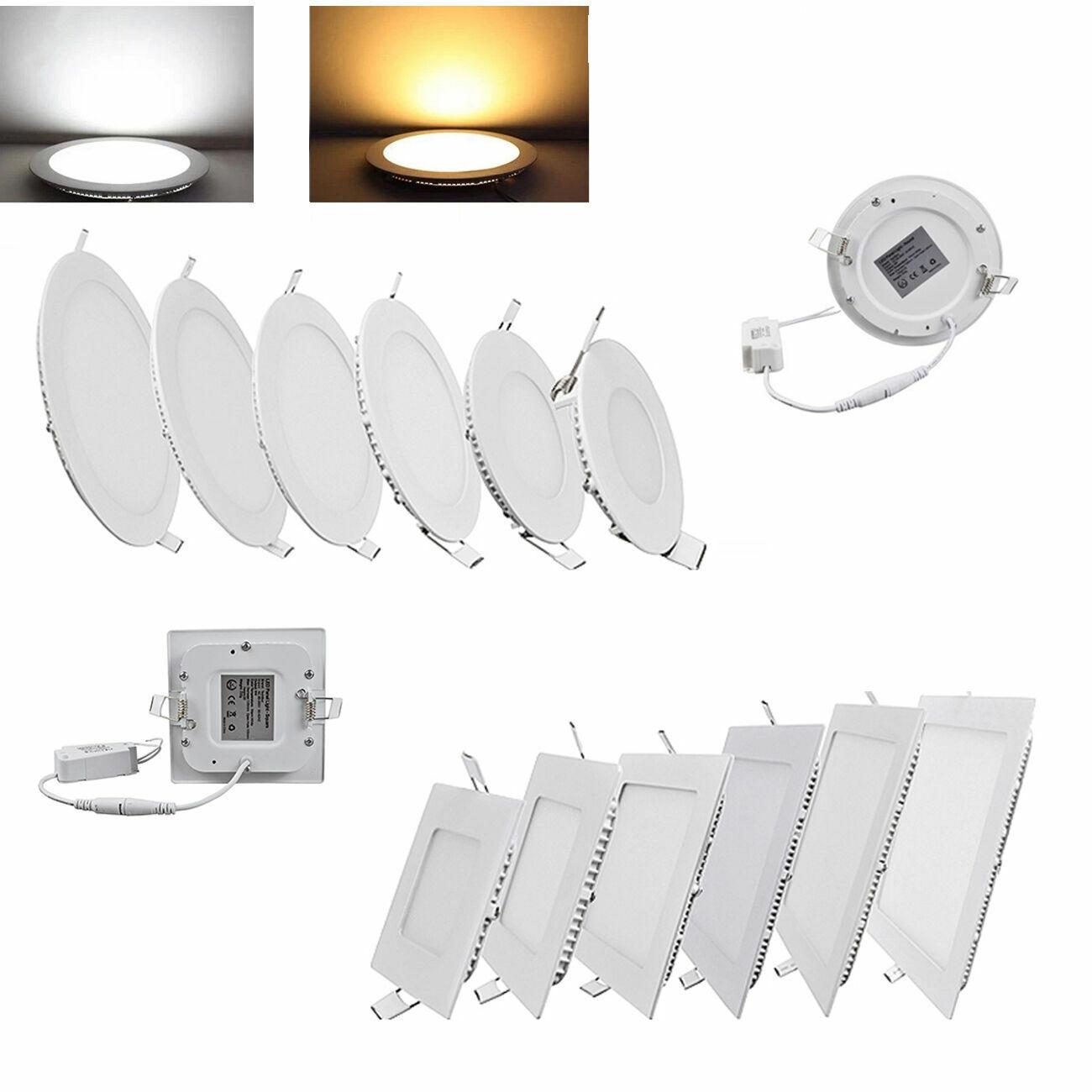6W 9W 12W 15W 18W 21W LED Panel Lampe Einbau Einbauleuchte Downlight Spot Licht