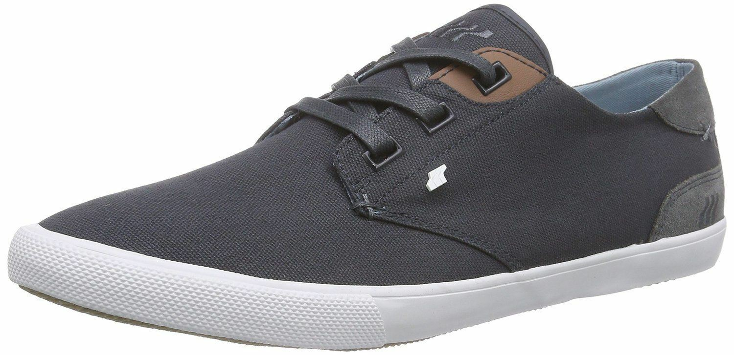 Boxfresh Stern Navy Uomo WEISS Waxed Canvas  Uomo Navy Trainers Schuhes f3feee