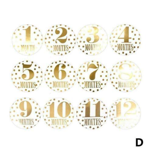 Baby Pregnant Women Monthly Photograph Sticker Month 1-12 Sticker Milestone O0X5