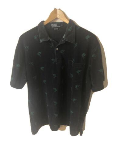 Ralph Lauren Blue Marlin Polo Shirt L Fishing Vint