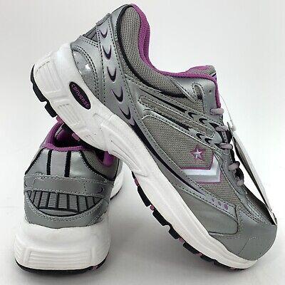 Converse Steel Toe Women S Size 8 5 M Safety Sneakers C388 Gray Silver Purple Ebay