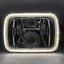 "thumbnail 3 - 1 Pair, Chrome LED JTX Headlights, 5x7"", White Halo, Flashes Amber, suits Hilux"