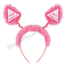 HEN PARTY PINK HEAD BOPPERS HEADBAND GIRLS NIGHT OUT HEN PARTY BRIDAL