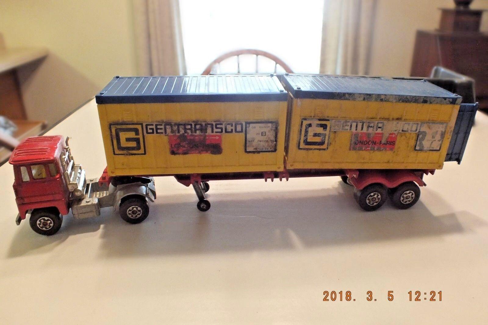 Vintage Matchbox Camión Semi Tractor Remolque Agricultura policía fuego Scammel
