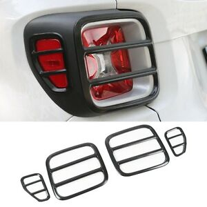 4pcs Black Iron Rear Lamp Taillight Cover Trim For 2015 2019 Jeep