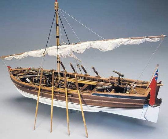 Panart Armed Pinnace  Lancia Armata  1803 Wooden Ship Kit Scale 1 16