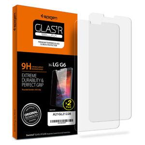 Spigen-LG-G6-Glas-tR-SLIM-Shockproof-Tempered-Glass-Screen-Protector-2PK