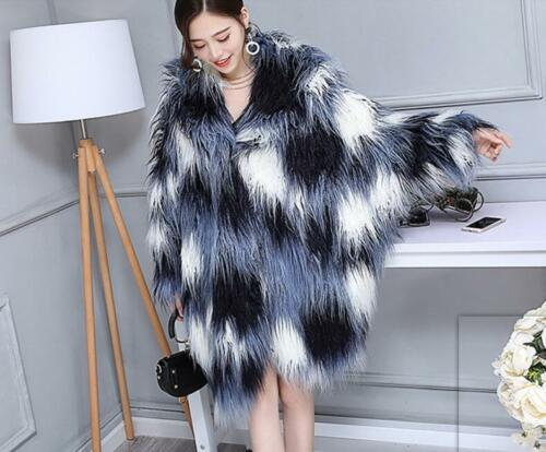 Winter Trench Lamb Coat Long Parka Warm Fur Outwear Jacket Women's Loose w7UZU