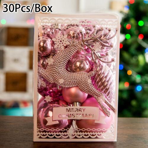 30Pcs Christmas//Xmas Tree Balls Home Decorations Baubles Party Wedding Ornament