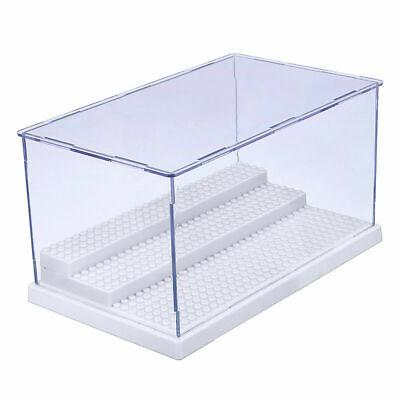 For Lego 4 Steps Minifigure Display Case Dustproof ShowCase Gray Base 2 Color