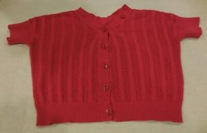 TEA-COLLECTION-Girls-Button-Cardigan-Size-10-Pink-100-Pima-Cotton