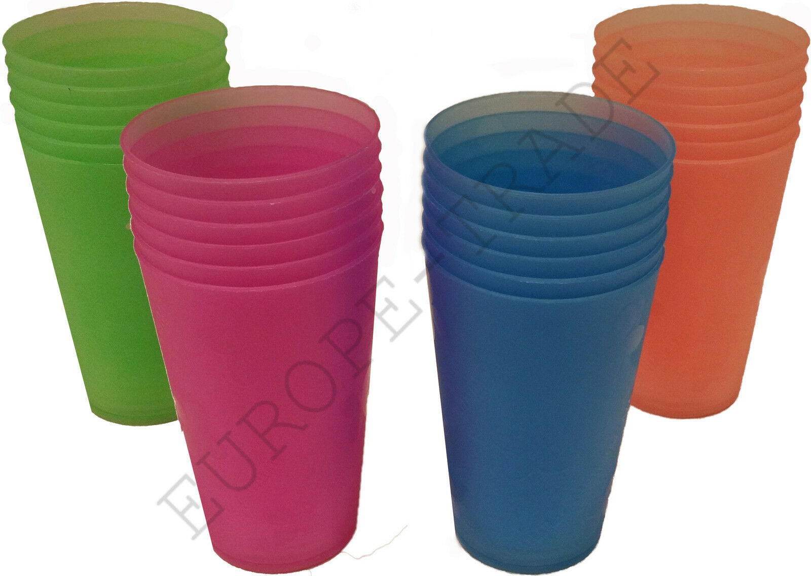 Plastic Glasses Set of 6 Great For Picnics or Outdoor Parties  BBQ