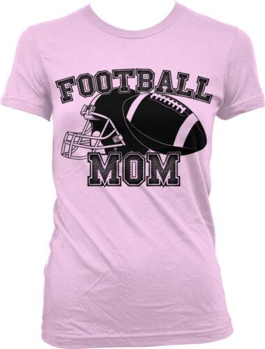Football Mom Mother Helmet Team Supporter Son Kid Child Field Juniors T-shirt