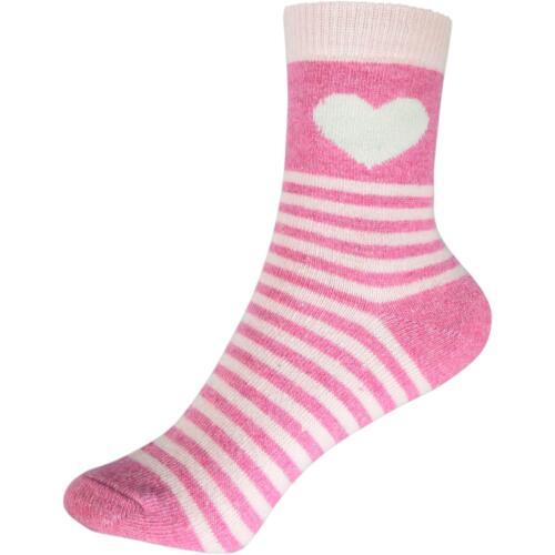 cosey dicke Socken Heart Stripes pink 33-40 4 Paar Baumwolle atmungsaktiv weich
