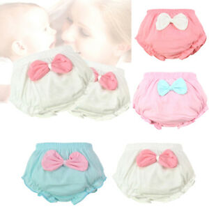 Baby-girl-infant-training-Pants-panties-Cloth-Diapers-kids-big-bow-underwear-WT