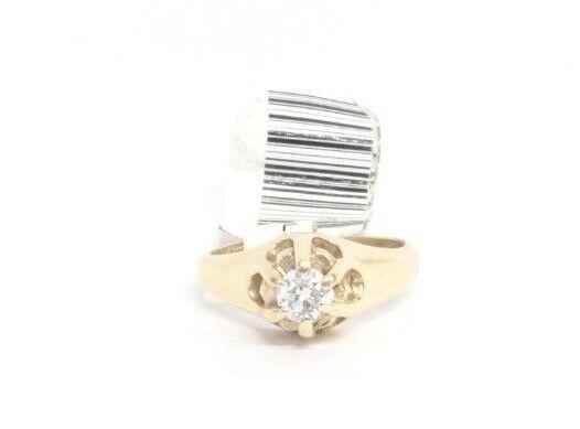 (RI3) Ladies 14K Yellow gold Diamond Ring - sz 4 - 3.3 g - .20 TCW