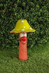 Details about  /Ceramic decoration statue for garden /'Mushroom green/' H22cm Midene Handmade