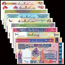 SD SUDN Set 10 PCS, 5-100+200+500+1000+2000+5000 Pound, UNC Africa Banknotes