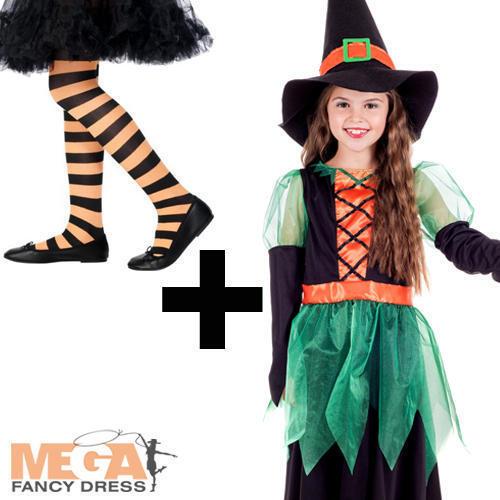 STREGA VERDE Collant Ragazze Costume streghe cattive Bambini Costume Di Halloween