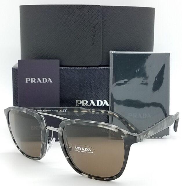 e14cce972eb New Prada sunglasses PR12TS VH38C1 Black Tortoise Double PR12 Classic  AUTHENTIC
