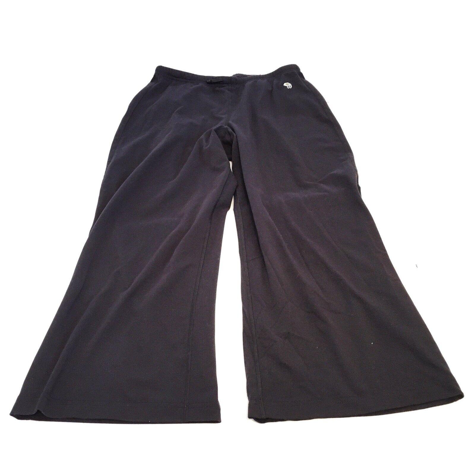 Mountain Hardwear Small Pants Black Crop Stretch Running Athletic Capri