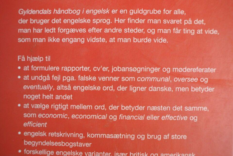 gyldendals håndbog i engelsk