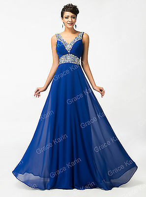 Beaded Long Formal Prom Dress Cocktail Party Ball Gown Evening Bridesmaid Dress