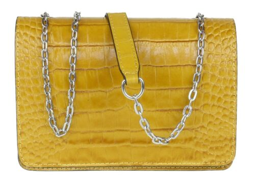 Italian Genuine Leather Croc Shoulder Bag Luxury Clutch Bag