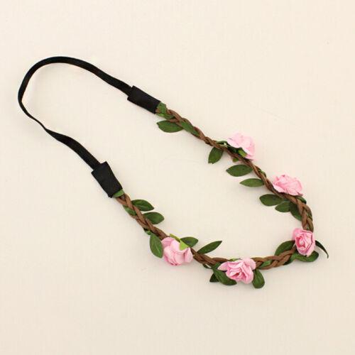Mode Elastisch Haarkranz Blüten Haarband Blumen Kopfschmuck Braut Hochze Strand