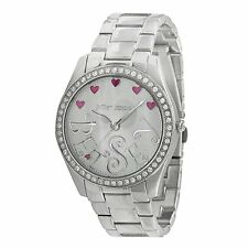 Betsey Johnson Silver Tone Stainless Lot & Lots of Time Watch NWT $65