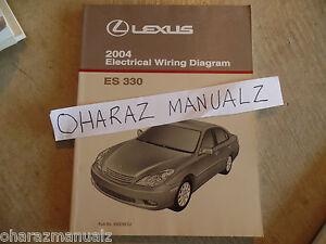2004 lexus wiring diagram 2004 lexus es330 electrical wiring diagram service manual oem ebay  2004 lexus es330 electrical wiring