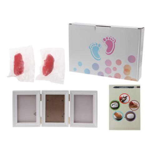 3D Newborns Souvenir Molds Baby Handprint Footprint Photo Frame Soft Clay Inkpad