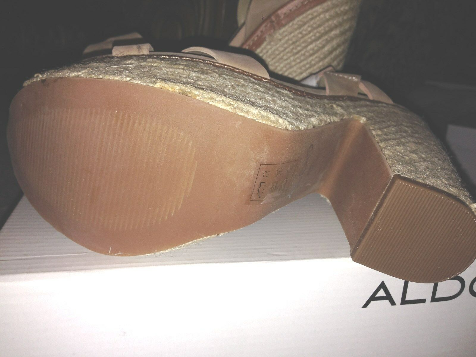 Nuevo Nuevo Nuevo En Caja Aldo Cuero SANDALIA TACONES 9 nos 40 a53ae3