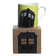 DOCTOR WHO YELLOW TARDIS MUG BOXED OFFICIAL BBC GREAT GIFT