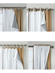 Image Is Loading Thermalogic Ultimate Liner Blackout Insulated Curtain For