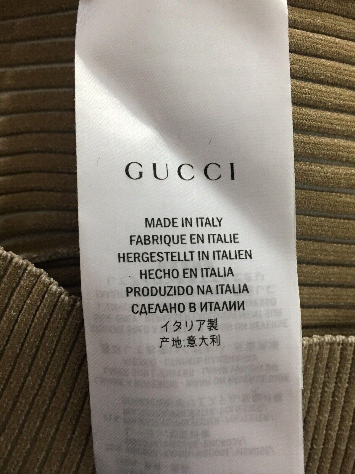 Rare Vtg Gucci Beige Knit Lace Up Top M - image 9