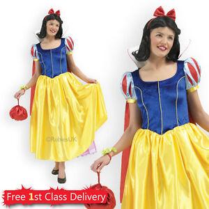 c004538af29c0 Caricamento dell immagine in corso Adulto-Disney-Biancaneve-Costume- ufficiale-include-Parrucca-donna-