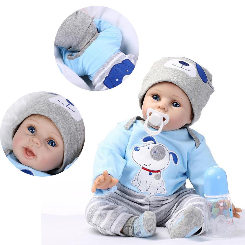 22 Handmade Lifelike Baby Boy Soft Vinyl Dolls Clothes