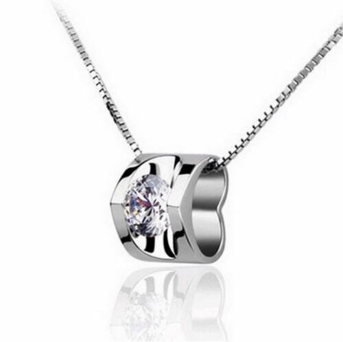 925 Sterling Silver Necklace Amethyst Zircon Pendant Fashion Jewelry 30 Style