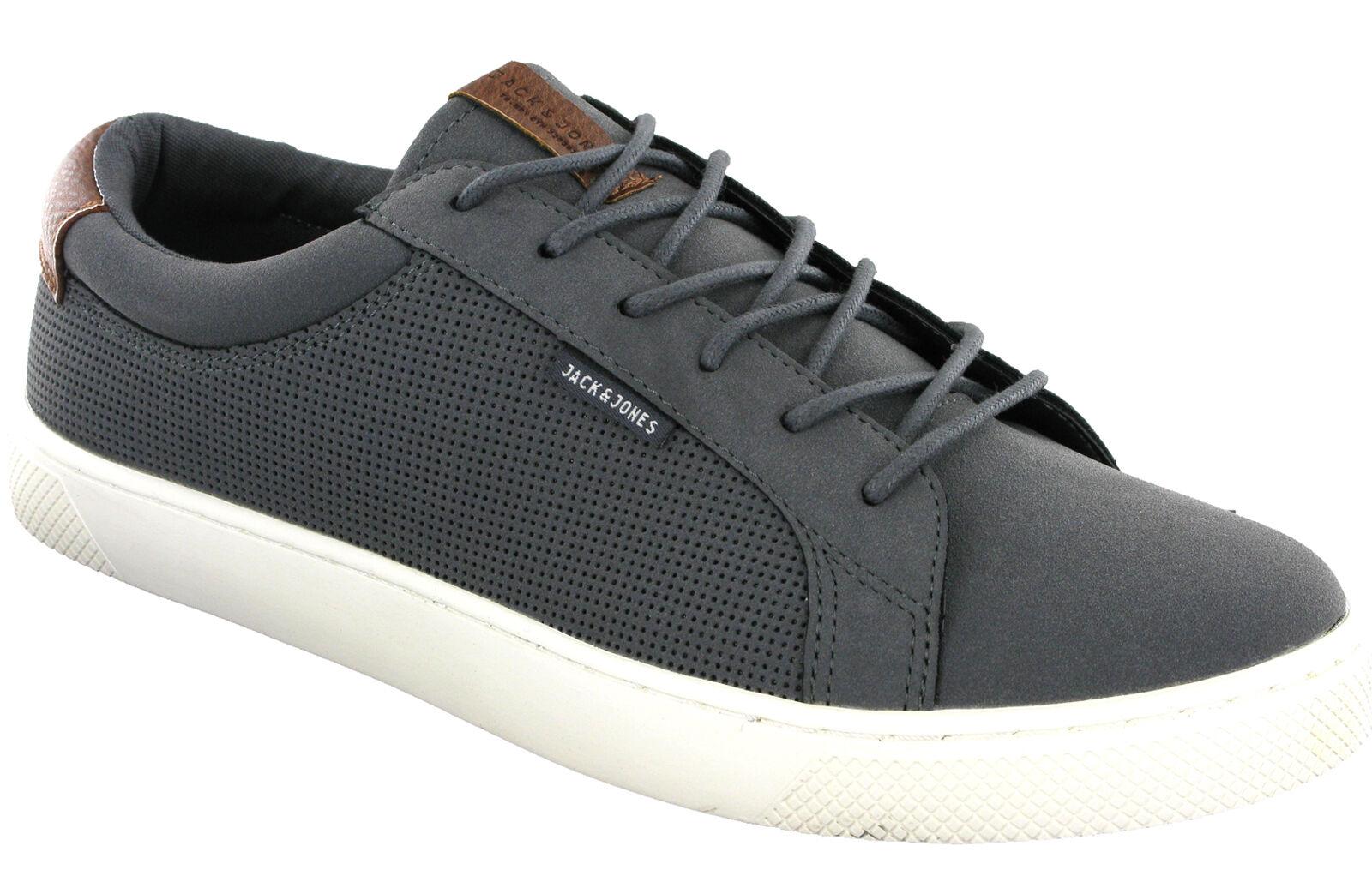 Jack & Jones Zobel Turnschuhe Herren Grau Mode Flach Schnürschuhe Sneakers