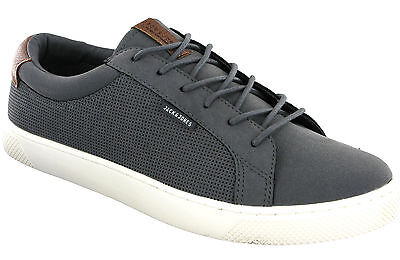 Angemessen Jack & Jones Sable Trainers Mens Grey Fashion Flat Lace Up Sneakers Pumps Shoes